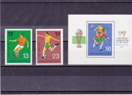 BULGARIE 1978 FOOTBALL COUPE DU MONDE Yvert 2359-2360 + BF 73 NEUF** MNH - Bulgarien