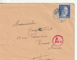 Allemagne-France,Reims, Censure D'un  Soldat Francais En Allemagne,Komotau, Lager - Marcofilia (sobres)