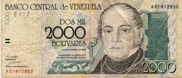 VENEZUELA 2000 BOLIVARES 1998  P-80 - Venezuela