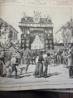 Retour Des Troupes Du Tonkin , Albi , Arrivée Du 143 éme De Ligne A La Caserne , Gravure De A Gusman 1886 - Documenti Storici