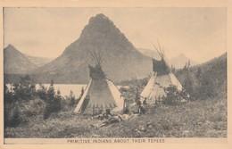 Primitive Indians About Their Teepees , 1926 - Indiens De L'Amerique Du Nord