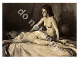 Painting By Wilhelm Hempfing (1886–1948) | German Painter | Ukraine Postcard | Nude Girls Womens Female - Tableaux