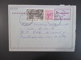Luchtpostblad Naar Niamey Niger - Stamped Stationery