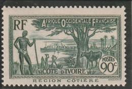 COTE D'IVOIRE Type De 1936-38 N°156 ** - Unused Stamps