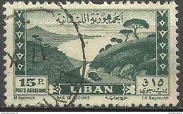 Lebanon - 1949 Jounieh Bay 15pi Used  SG 403  Sc C146 - Libanon
