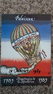 CPSM BOURSE SALON PALAISEAU 1989 BICENTENAIRE DE LA REVOLUTION FRANCAISE BALLON DESSIN DEDCACE VASCO GAQUET - Bourses & Salons De Collections