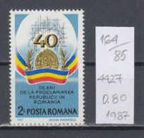 85K164 / 1987 - Michel Nr. 4427 - Romanian Peoples Republic 40 Years ** MNH Romania Rumanien - 1948-.... Républiques