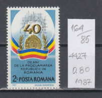 85K164 / 1987 - Michel Nr. 4427 - Romanian Peoples Republic 40 Years ** MNH Romania Rumanien - 1948-.... Republics