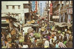 CP China Hong Kong- 326.- An Open -air  Market In Kowloon . Non Circulé - Marchés
