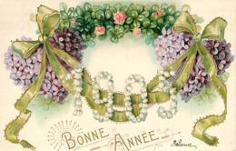 FANTAISIE CARTE GAUFFREE - BONNE ANNEE  - DEBARRAS - Tarjetas De Fantasía