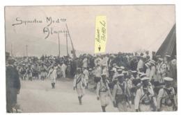 CARTOLINA POSTALE Alassio Agosto 1910 Esercitazione Di Sbarco Della Squadra Mediteraneo Alla Presenza Dell'Amm Bettolo - Cagliari