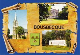 59 BOUSBECQUE  / 3 VUES SUR PARCHEMIN / BLASON - Otros Municipios