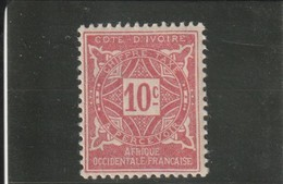 COTE D'IVOIRE TIMBRE TAXE 1915  N° 10* - Unused Stamps