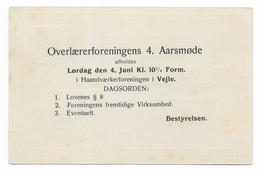 """DANEMARK - 1908 - CP ENTIER TYPE """"CHIFFRE"""" Avec REPIQUAGE PRIVE ! - Interi Postali"""