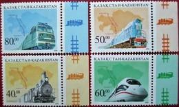 Kazakhstan  1999 Transport  Trains  4 V.  MNH - Kazakhstan