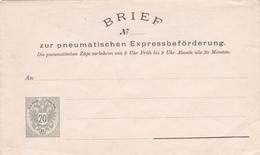 Entier  Postal Stationery - Autriche / Österreich - Lettre Pneumatique / Brief Pneumatischen Expressbeförderung - Ganzsachen