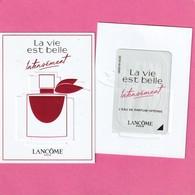 LANCÔME ***La VIE EST BELLE INTENSEMENT ***  Avec Patch    R/V - Perfume Cards