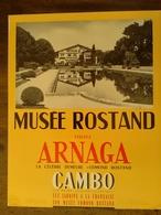 AFFICHE ANCIENNE ORIGINALE MUSEE EDMOND ARNAGA CAMBO LES BAINS PAYS BASQUE PYRENEES ATLANTIQUES 1960's - Afiches