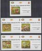 Burundi 2012 Mushrooms Champignons BF Luxe MNH - Pilze