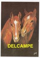 DF / ANIMAUX / CHEVAUX / TÊTES DE DEUX CHEVAUX PAR SCHRUB - Pferde