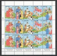Y247 1988 PALAU ART CHRISTMAS BIRDS ANGELS #255-59 MICHEL 12 EURO SH MNH - Arts