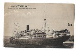 PAQUEBOT---S.S. CHAMBORD--paquebot Des Messageries Maritimes--voir 2 Scans - Steamers