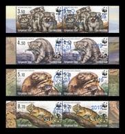Tajikistan 2019 Mih. 874/77 Fauna. WWF. Manul (blue Overprint) MNH ** - Tadjikistan