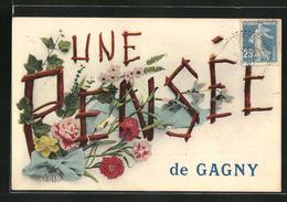 CPA Gagny, Une Pensée De Gagny, Les Fleurs - Gagny