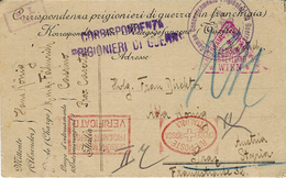 1918- WWI - Italian Poscard From Cassino By An Austrian W P  -Italian And Austrian Censorship - 1850-1918 Impero