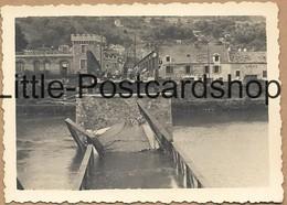 Foto Nanteuil Marne Brücke Nach Bombardement Trümmer Deutsche Soldaten Pont 2. WK Pi. Btl. 50 - Guerra 1939-45