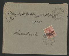 """N° 35 Type Germania Obl. C-à-d """"MAZAGAN DEUTSCHE POST 18/2/09"""" Sur Enveloppe Pour Marrakech - Deutsche Post In Marokko"""