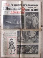 Journal L'Humanité Dimanche (14 Août 1955) Toros En Vallauris Avec Picasso - E Meyer - Slovaquie - 1950 - Nu