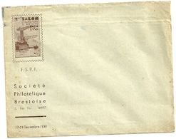 FINISTERE - Dépt N° 29 = BREST 1938 = ENVELOPPE ' SALON PHILATELIQUE De BRETAGNE ' - Esposizioni Filateliche