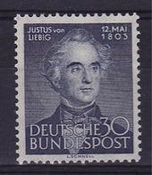 RC 15866 ALLEMAGNE RFA N° 52 COTE 67,50€ CHIMISTE JUSTUS VON LIEBIG NEUF ** MNH TB - Unused Stamps