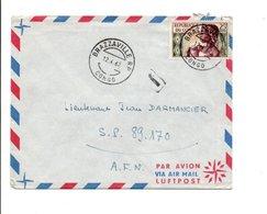 CONGO LETTRE DE BRAZZAVILLE POUR L' A F N  1962 - Congo - Brazzaville