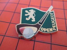 620 Pin's Pins / Beau Et Rare / THEME SPORTS : GOLF OPEN DE FRANCE PEUGEOT Par HELIUM PARIS - Golf