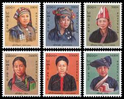 233 - Laos 2000 YT 1387A-F ; Mi# 1710-15 **  MNH  Costumes Nationaux (II) - Laos