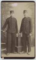 CDV Militaire 1890-1900 Camille Rava à Briançon . 12 Sur Le Col Et Le Képi . - Oud (voor 1900)