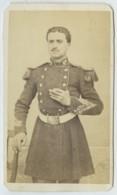 """CDV Militaire 1860-70 Bonio Au Mourillon à Toulon . Troupes De Marine . """"Louis Thomas Mort à Schwerin En 1871"""". - Photos"""