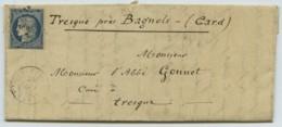 N° 4 PC 3604 Villefort / LàC 1852 Monastère Notre-Dame-des-Neiges Lozère Pour Abbé Gonnet à Tresques (Gard) . Botanique - 1849-1876: Classic Period