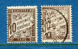 France - Taxe - YT N° 29 - Neuf Sans Charnière Et Oblitéré - 1893 à 1935 - 1859-1955 Usati