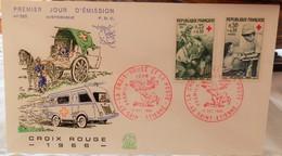 Enveloppe 1er Jour N°585 - La Croix-Rouge - 10 Décembre 1966 - - FDC