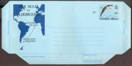 Falkland Islands Aerogramme 19 P Air Plus 7 P Mail By Air Bridge Unused - Falklandinseln