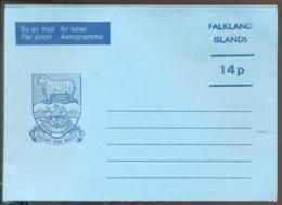 Falkland Islands Aerogramme 14 P Desire The Right Unused - Falklandinseln