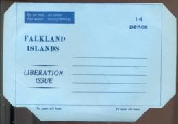 Falkland Islands Aerogramme 14 P Liberation Issue Unused - Falkland