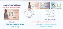 Fdc`s SUDAN 2002 SC 535 537 ERADICATE GUINEA WORM FROM SUDAN #7 - Soedan (1954-...)