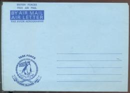Falkland Islands 1982 Aerogramme Task Force British Forces Free Air Mail Unused - Falkland