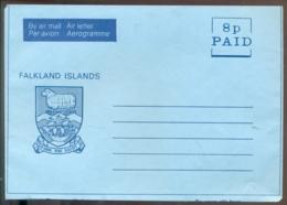 Falkland Islands Aerogramme 8 P Unused - Falkland