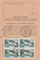 ORDRE DE REEXPEDITION TEMPORAIRE BLOC DE 4 - YT PA 39 - MS760 ST RAPHAEL VAR 18/8/70 POUR HAUTE VOLTA OUAGADOUGOU - Documents De La Poste