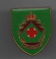 """Insigne De Poitrine (pucelle) Unité De Réserve Du Service Médical Belge (fahnenfabrik) Devise """"we Will Be Ready""""..BT16 - Medicina"""